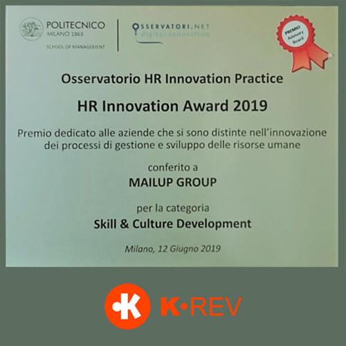 K.REV premio MailUp 2019